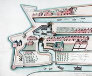 II-11-2 Kopie van een plattegrondtekening van het oostelijke deel van de stadsdriehoek