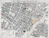 II-117 Kaart van het Oude Noorden waarop de verlenging van de Zaagmolenstraat en de terreinen van de gemeentereiniging ...