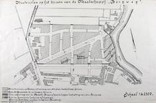 II-118 Plattegrond van een stratenplan op het terrein van de bouwmaatschappij Bergweg. Het afgebeelde gebied wordt ...