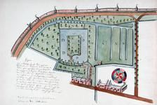 II-12-2 Kopie van een plattegrond van het voormalige kasteel Bulgersteyn