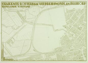 II-124 Plattegrond van het plangebied van de wijken Blijdorp en Bergpolder