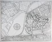 II-125 Plattegrond van een uitbreidingsplan voor de wijken Blijdorp en Bergpolder