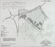 II-126-17 Plattegrond van een uitbreidingsplan in Schiebroek. Het afgebeelde gebied wordt begrensd door de Doenkade, de ...