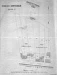 II-129-01 Plattegrond van de blekerijen Het Wapen van Rotterdam en Het Jonge Lammetje in het Groen, gelegen tussen de ...
