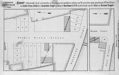 II-129 Kaart, in twee delen, behorende bij de voorwaarden en bepalingen van openbare verkoop van grondperceelen aan de ...