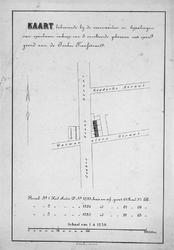 II-132 Kaart behorende bij de voorwaarden en bepalingen van openbare verkoop van 3 onvoltooide gebouwen met open grond ...
