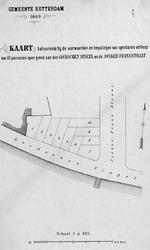 II-134 Kaart behorende bij de voorwaarden en bepalingen van openbare verkoop van 10 grondpercelen aan de Goudsesingel ...