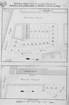 II-135 Kaart, in twee delen, van te verkopen grondpercelen aan de Jonker Fransstraat, Hovenierslaan, Goudsesingel en ...