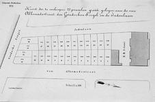 II-137 Kaart van te verkopen grondpercelen, gelegen aan de Van Alkemadestraat, Goudsesingel en Jodenlaan