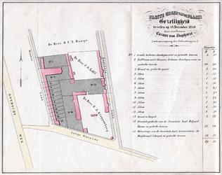 II-139 Plattegrond van 15 te veilen percelen op de buitenplaats Gezelligheid aan de Lange Warande, Mannenlaan [Generaal ...