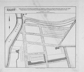 II-143 KAART behorende bij de voorwaarden en bepalingen van openbare verkoop van 64 percelen open grond, aan de Jonker ...