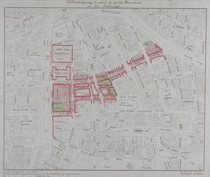 II-15-01-02 Plankaart voor een verbindingsweg tussen de Jonker Fransstraat en de Coolsingel [de Meent] met aanduiding ...