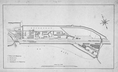 II-152 Plankaart van het gebied tussen het Buizengat en de Rhijnspoorweg langs de Oostmaaslaan