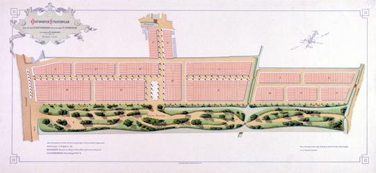 II-154 Stratenplan voor bouwpercelen ten westen van de Nieuwe Plantage tussen de Oostzeedijk en de Oudedijk (Kralingen-West)