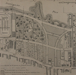 II-156-01 Plattegrond van straataanleg tussen Oudedijk, Kortekade, Kralingse Plas en IJsclub Kralingen