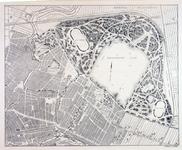 II-159-1 Plattegrond van Kralingen en Crooswijk met een [niet uitgevoerd] ontwerp voor het Kralingse Bos