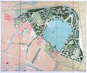 II-159-2 Plattegrond van Kralingen en Crooswijk met een [niet uitgevoerd] ontwerp voor het Kralingse Bos