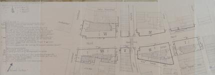 II-16-03 Plattegrond van de Meent en omgeving met aanduiding van te verkopen grondpercelen tussen de Zandstraat en de Oppert