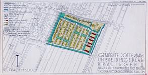 II-161-02 Kaart van het uitbreidingsplan Kralingen II. Het plangebied wordt begrensd door de Laan van Woudestein, ...