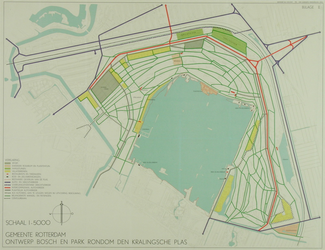 II-161-2 Plankaart voor het Kralingse Bos