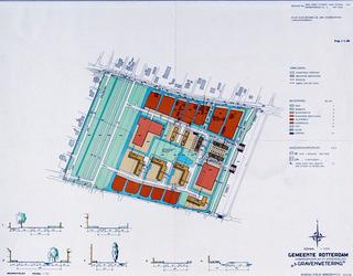 II-162-00-00-06 Plattegrond van het uitbreidingsplan 's-Gravenwetering. Het plangebied wordt begrensd door de Laan van ...