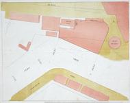 II-18 Plattegrond van percelen bij de Baan en de Schiedamsesingel in de nabijheid van molen De Arend.