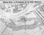 II-189 Plankaart voor de aanleg van de Maashaven en omliggende straten