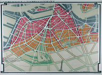 II-191 Plankaart voor de stadsontwikkeling op de linker Maasoever.