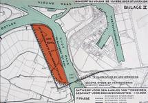 II-203-01-2 Plankaart voor de bouw van een gecombineerde spoor- en verkeersbrug [Botlekbrug] en een op te hogen en te ...