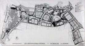 II-208 Plankaart voor het Zuiderpark