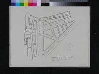 II-25 Kopie van een plattegrond van grondpercelen tussen de Blaak en de [toekomstige] Wijnhaven