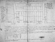 II-4 Kopie van een plattegrond van het voormalige Prinsenhof tussen de Pannekoekstraat en de Botersloot