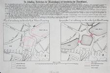 II-40 Plankaart met ontwerp ter verbetering van de verkeerscirculatie bij de Kleine Draaisteeg en een gewijzigd plan C, ...