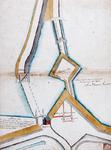 II-47 Kopie van een plattegrond van verdedigingswerken bij de Oostpoort.