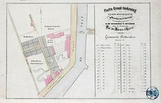 II-49 Plattegrond van een te veilen huis en grondpercelen tussen de Schiedamsesingel, de Laurierlaan en de Zwarte Paardenlaan