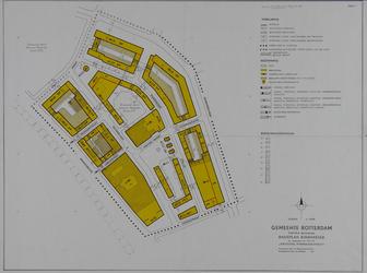 II-5-01 Plattegrond van de Pannekoekstraat en omgeving. Het afgebeelde gebied wordt begrensd door de Binnenrotte, ...