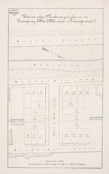 II-51 Kaart van te verkopen grondpercelen aan de Eendrachtsstraat, Eendrachtsweg en Witte de Withstraat