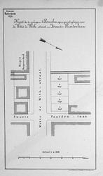 II-53 Kaart van te verkopen grondpercelen gelegen aan de Witte de Withstraat en Zwarte Paardenlaan