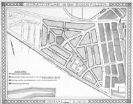 II-93 Kaart van het stratenplan in de wijk Bospolder