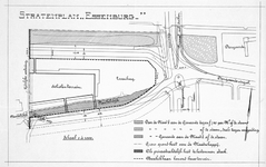II-96 Kaart van het stratenplan Essenburg ter plaatse van de huidige Statentunnel