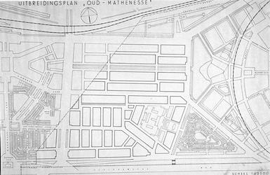 II-99-00-01 Plattegrond van het uitbreidingsplan Oud-Mathenesse