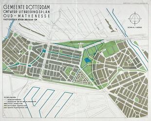 II-99 Kaart van het ontwerp-uitbreidingsplan Oud-Mathenesse