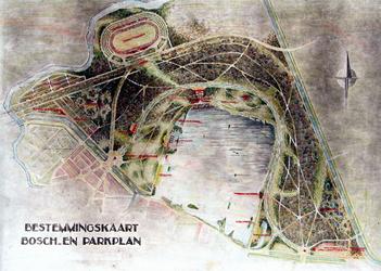 IX-1633-01 Plankaart voor het Kralingse Bos
