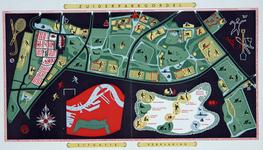 IX-3544-02 Kaart van het plan Zuiderparkgordel, met vermelding van diverse recreatiemogelijkheden