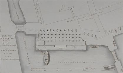 RI-1054 Plattegrond van de Zeevismarkt aan de Leruvehaven