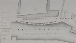 RI-1066 Plattegrond van de Scheveningsche Vischmarkt op de Coolvest bij de Binnenwegse Poort