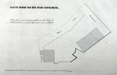 RI-1088 Plattegrond van de stadskarrenstal, ten zuiden van de Oostpoort