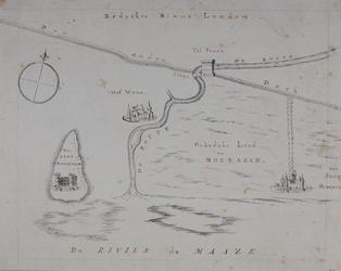 RI-2 Historiekaart van Rotterdam anno 1100.