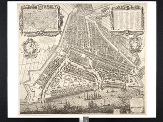 RI-20 Plattegrond van Rotterdam. Inzetkaart linksboven: Hoogheemraadschap van Schieland.