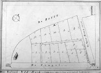 RI-209 Kaart met grondpercelen op het eiland Vishoek (Couwenburgs eiland).